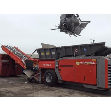 Дробилка измельчитель для ТБО, пней, поддонов, лома и мусора Hammel VB