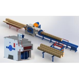 Линия лесопиления на базе станков первого и второго ряда  СБЦ 340 и 1Ц8-450